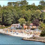 Kiel canal beach