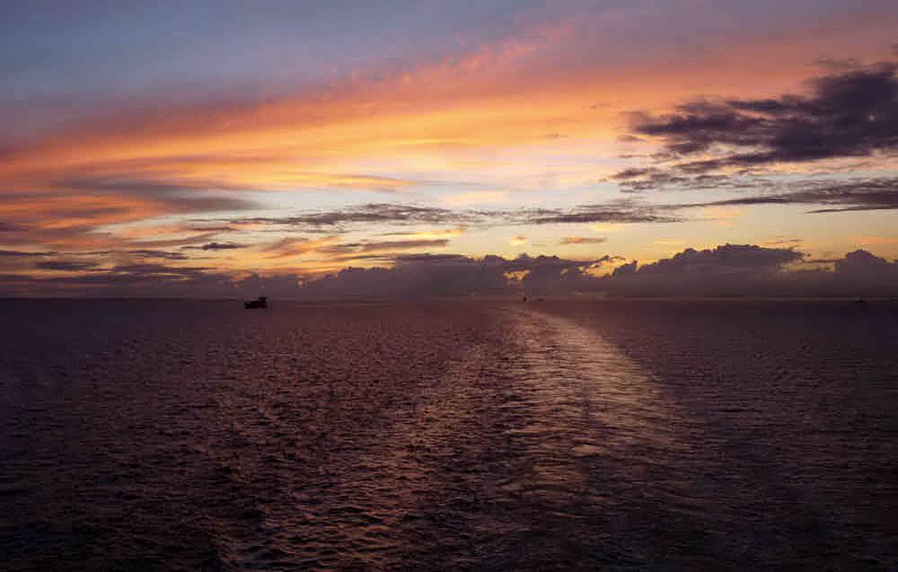 Kiel verschwindet im Abendlicht!