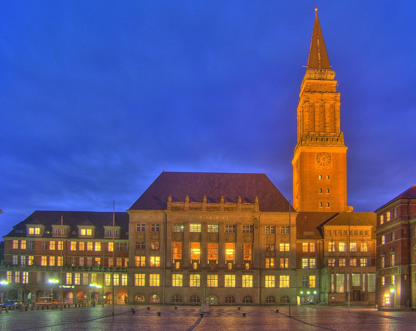 Kieler rathaus in hdr foto bild architektur architektur bei nacht hdr bilder auf fotocommunity - Architektur kiel ...