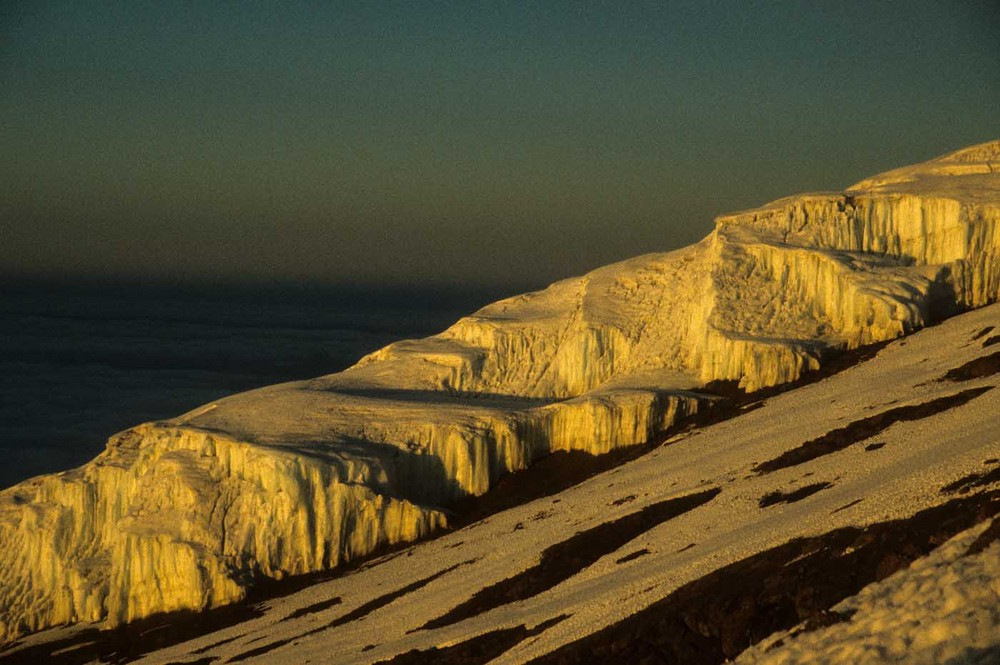 Kilimanjaro, kurz vor dem Gipfel.