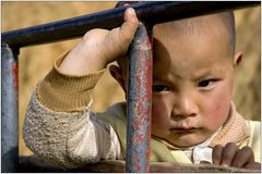 Kind im Trecker