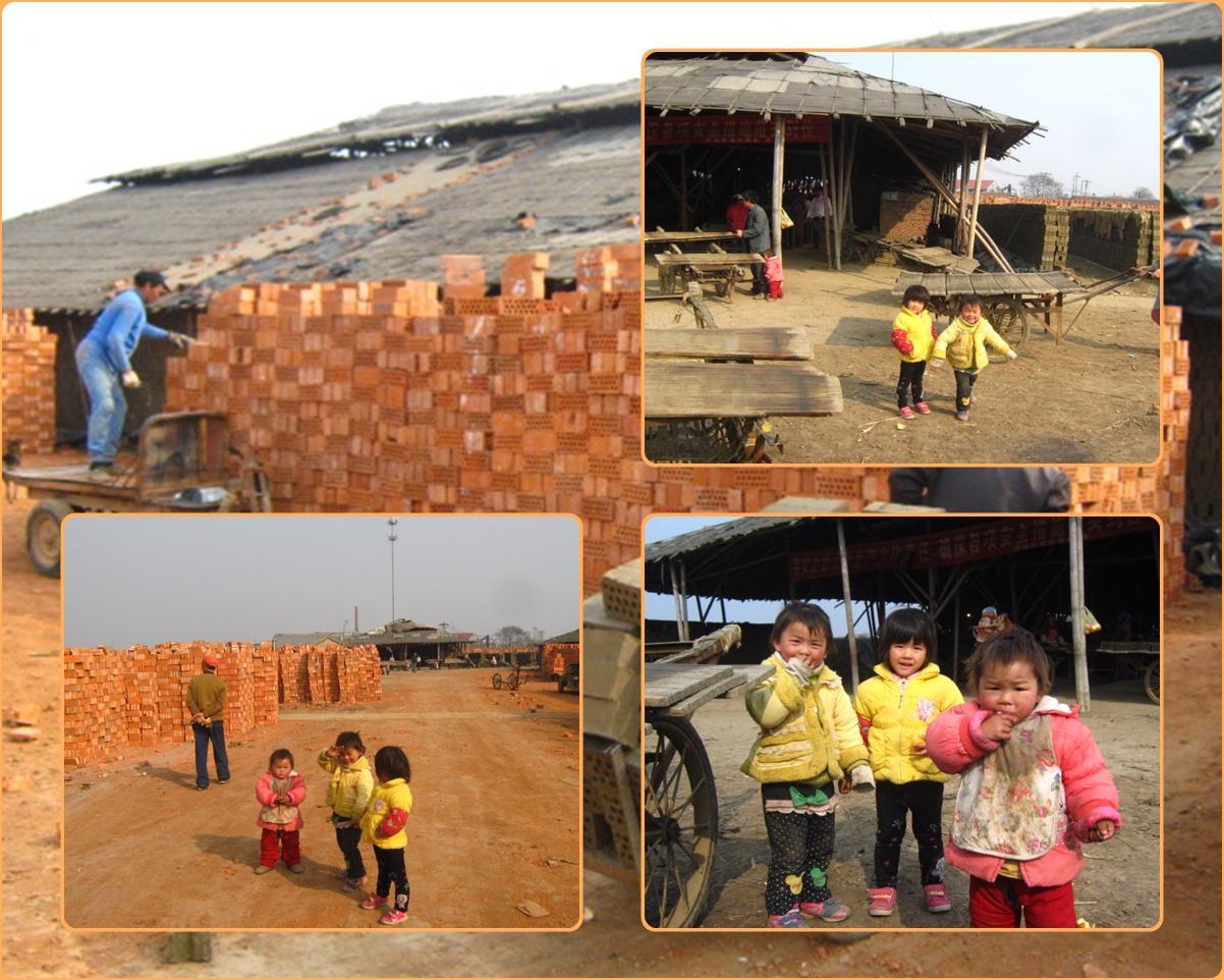 Kinder in einer Ziegelei - Chang Zhou -
