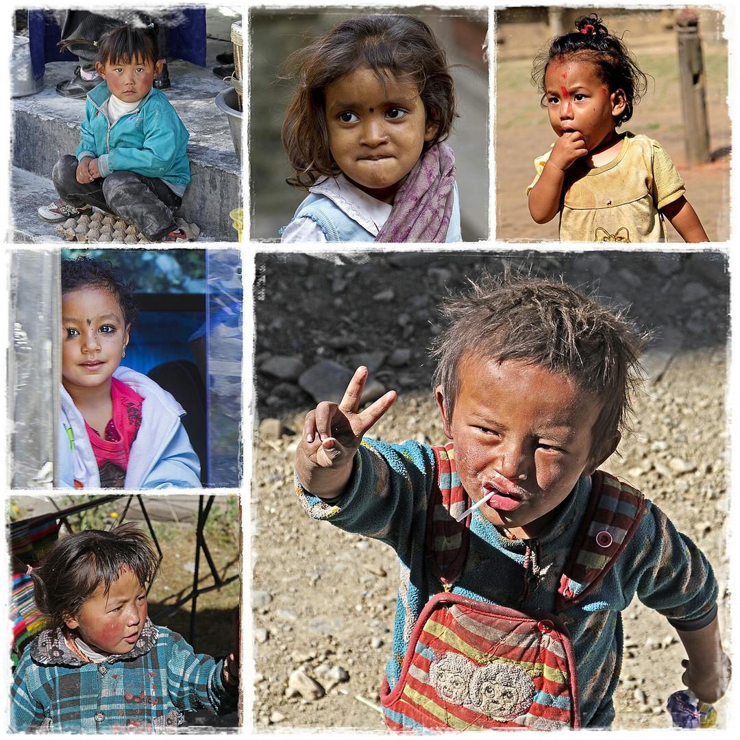 Kinder in Nepal und Tibet