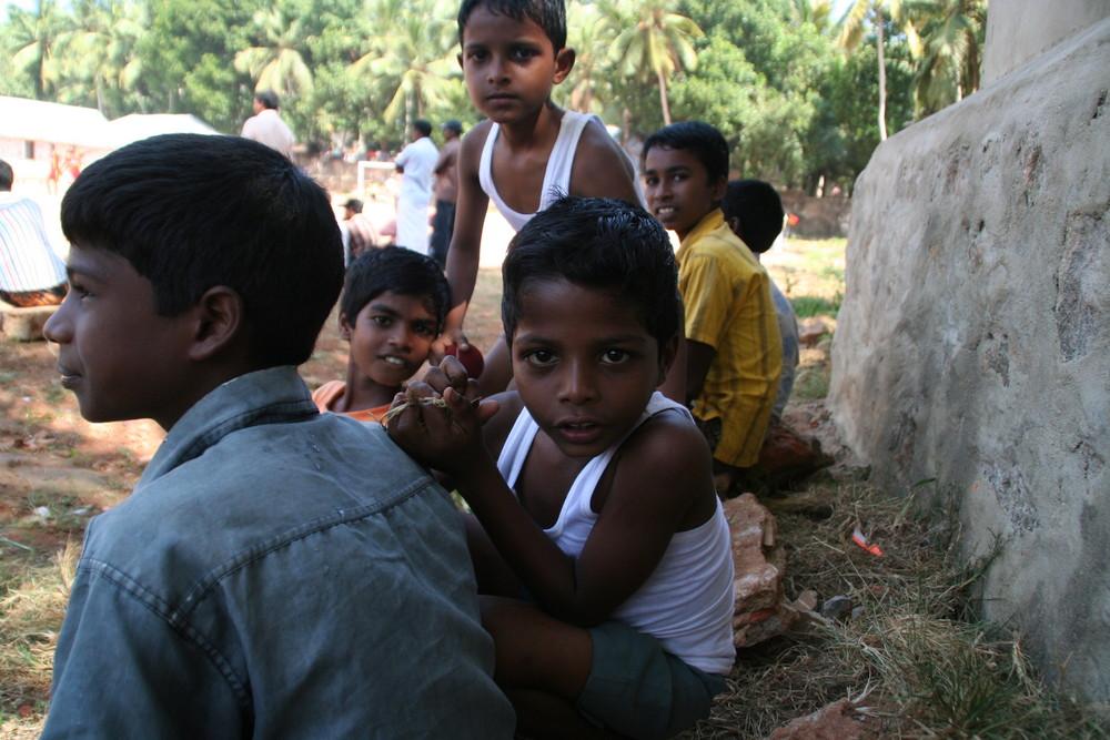KinderFussballturnier, Kerala, Indien +Story zum Foto