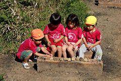 Kindergartenausflug auf den Daimonji-yama
