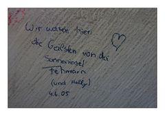 """""""Kinderhände"""", beschmieren Mauern und Wände..."""