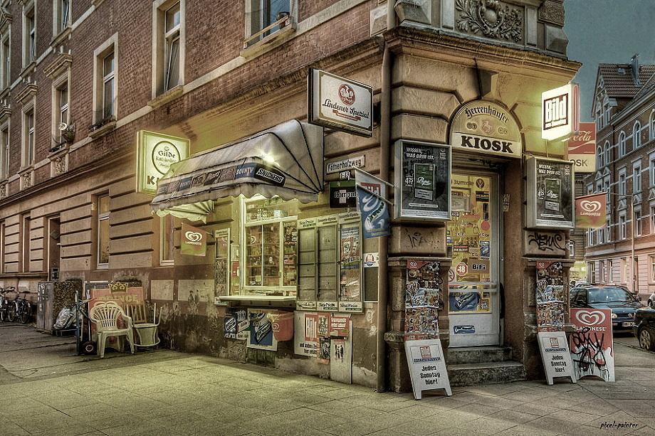 kiosk in hannover linden foto bild architektur stadtlandschaft stadtlandschaften bei nacht. Black Bedroom Furniture Sets. Home Design Ideas