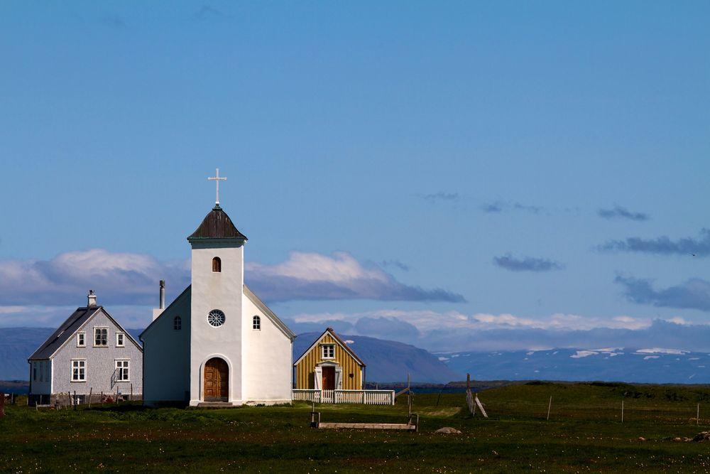 Kirche auf Flatey....