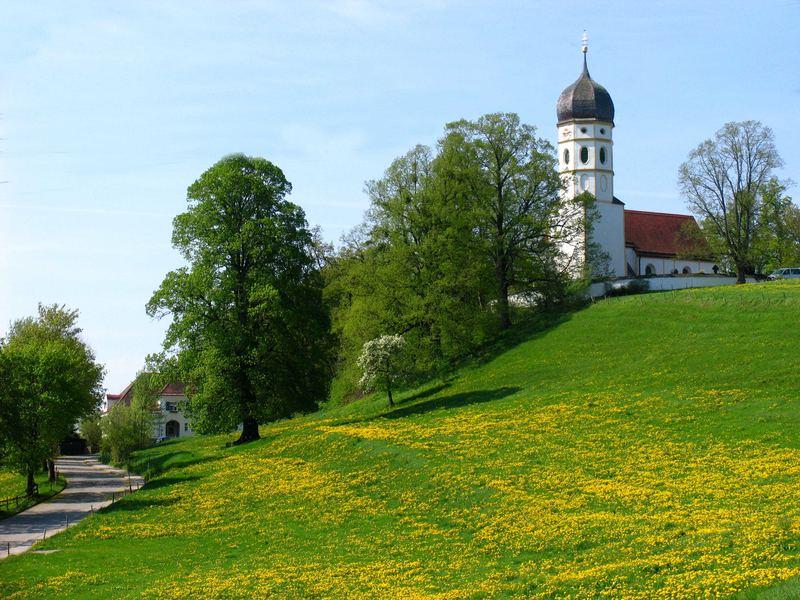 Kirche bei Ambach/Starnberger See Foto & Bild | landschaft ...