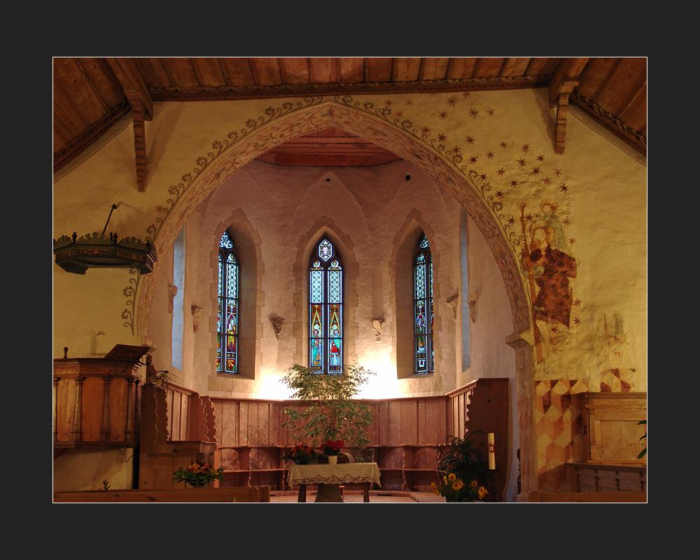Kirche Blumenstein BE- Choransicht
