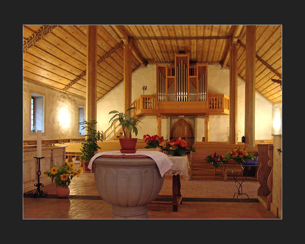 Kirche Blumenstein BE - Orgelansicht
