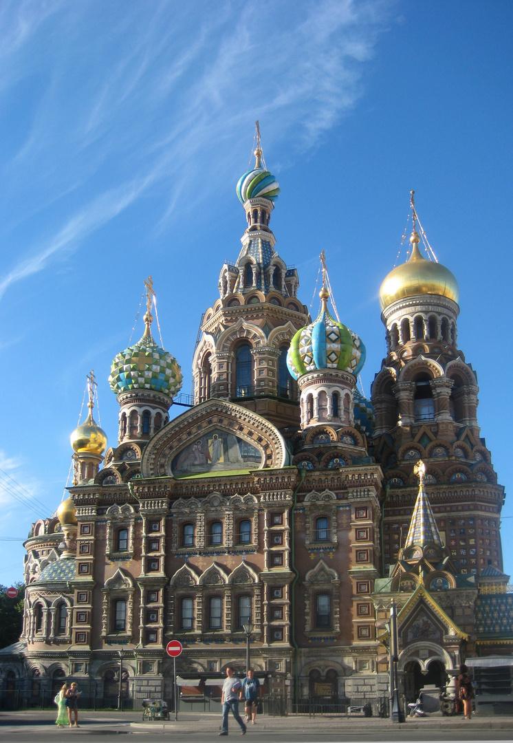 Kirche des Erlösers auf dem Blute in St. Petersburg