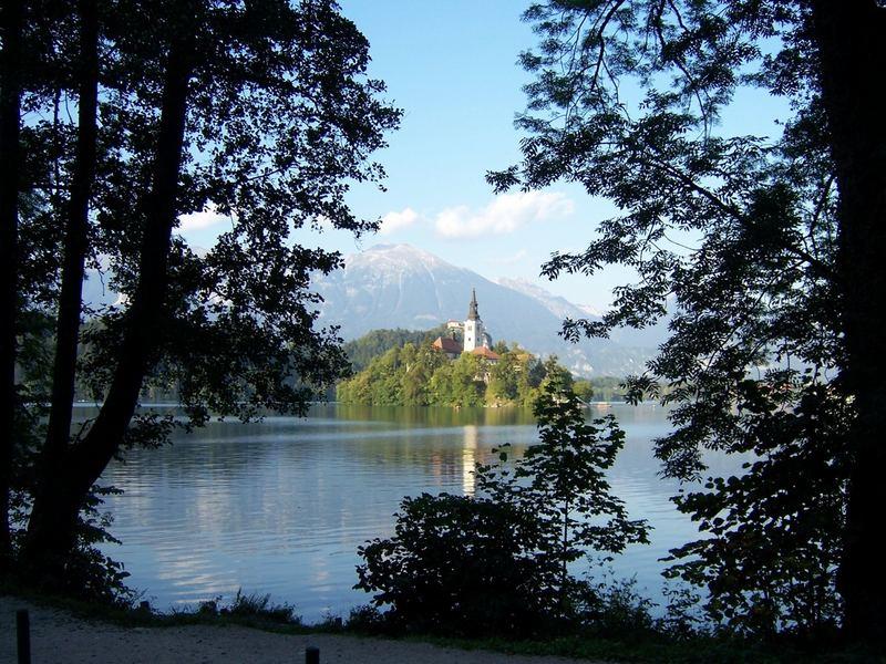 Kirche im See bei Bled (Slowenien)