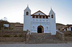 Kirche in Corporaque am Rande des Colca-Canyons