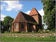 Kirche in Groß Brütz/Rückseite