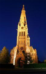 Kirche in Hagenburg bei Nacht
