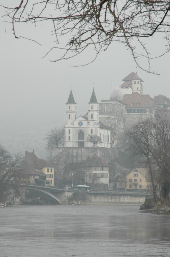 Kirche und Festung Aarburg