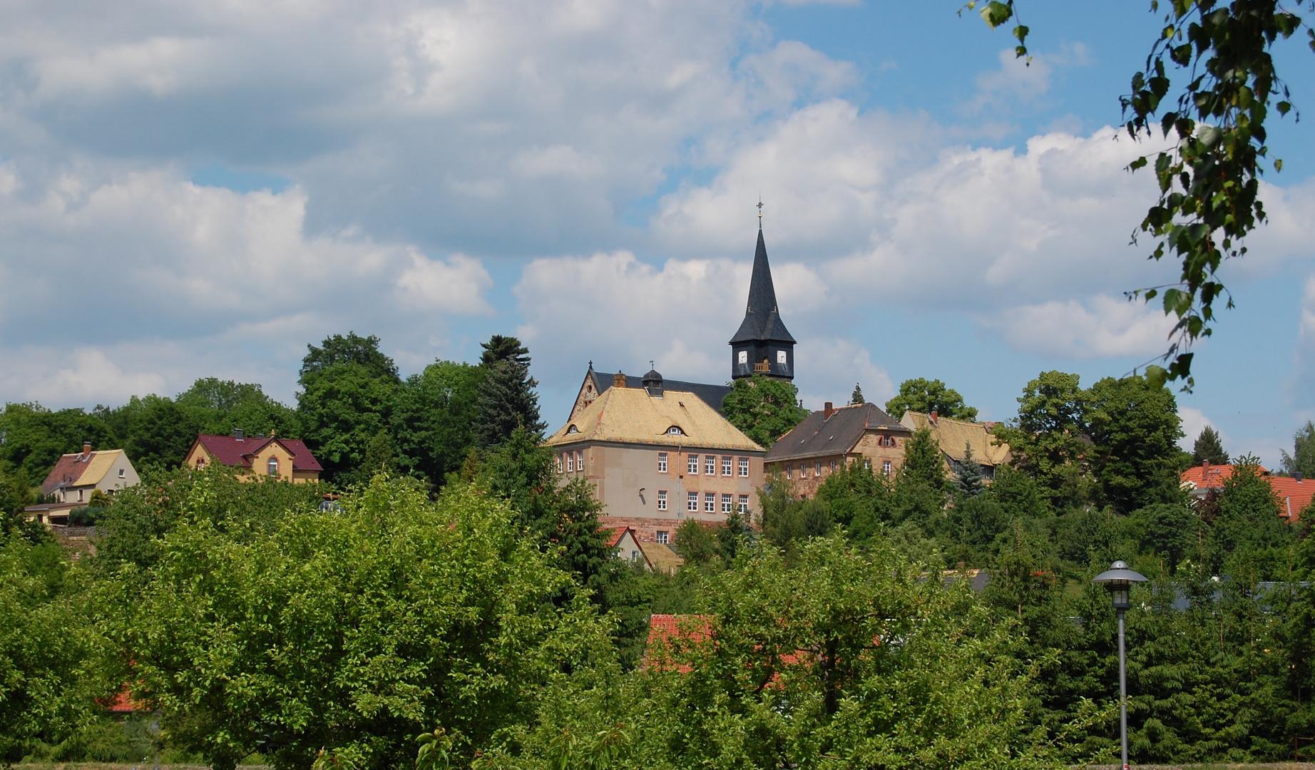 Kirche und Ort Kohren-Salis