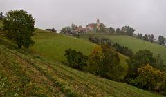 Kirche von St. Pankrazen bei Regenwetter!