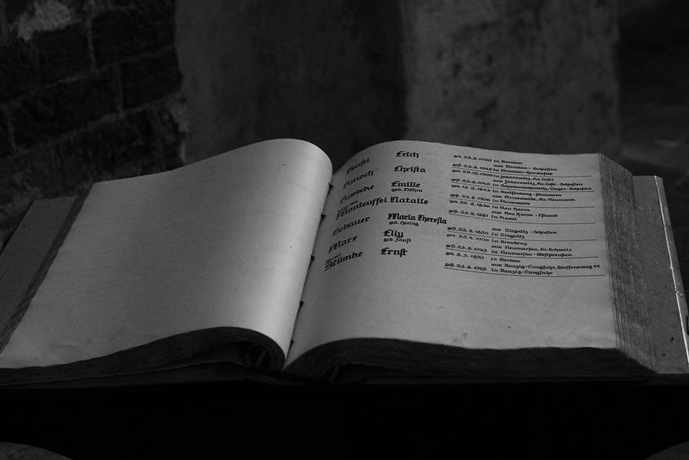 Kirchenbuch wie Dazumal