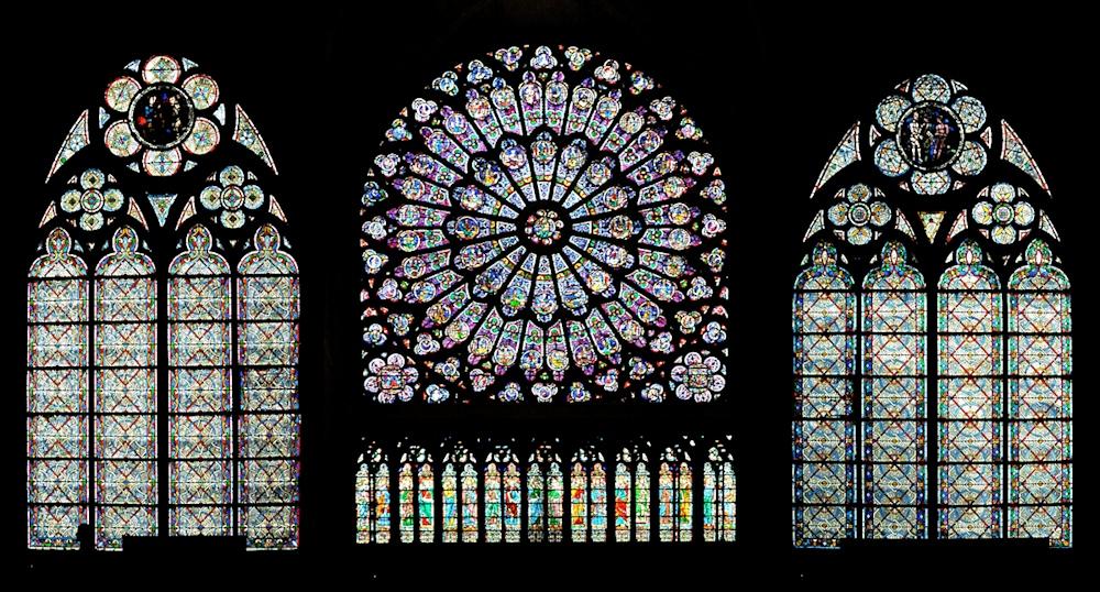 Kirchenfenster Notre Dame