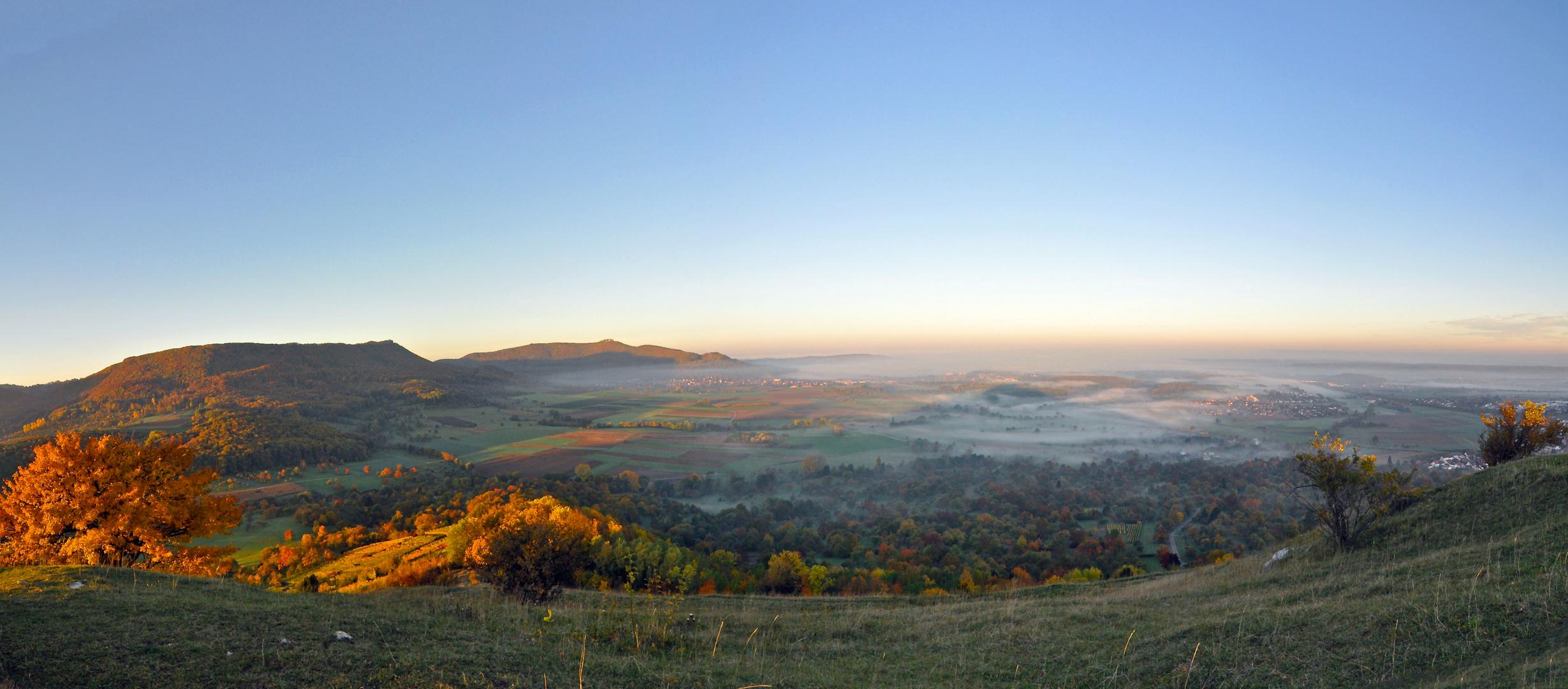 KIrchheim Teck unter dem Nebel