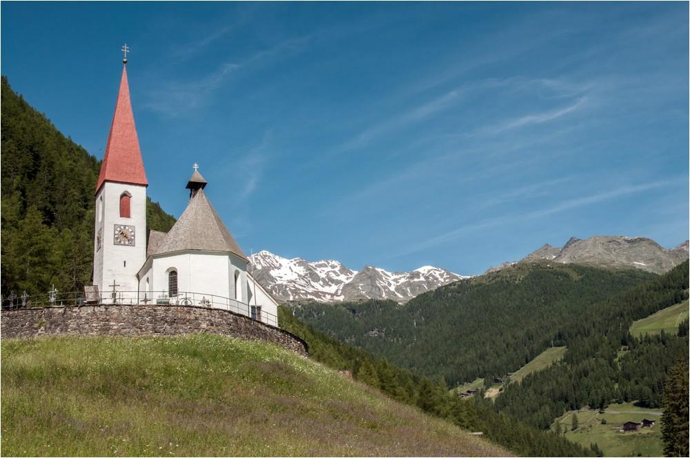 Kirchlein von Sankt Gertraud ...