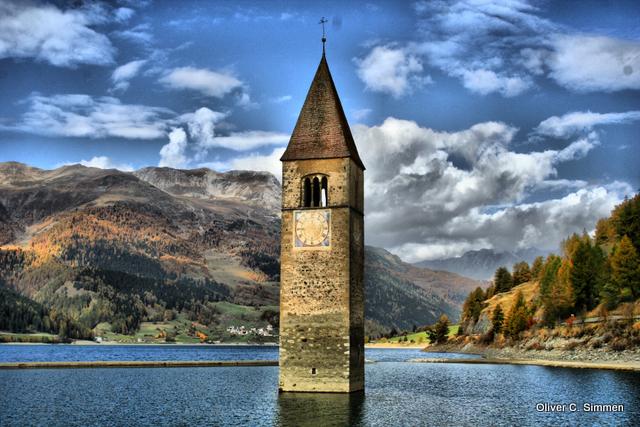 Kirchturm in Südtirol