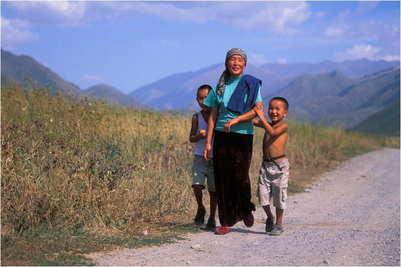 Kirgisische Familie