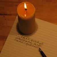 kirjoittaessani