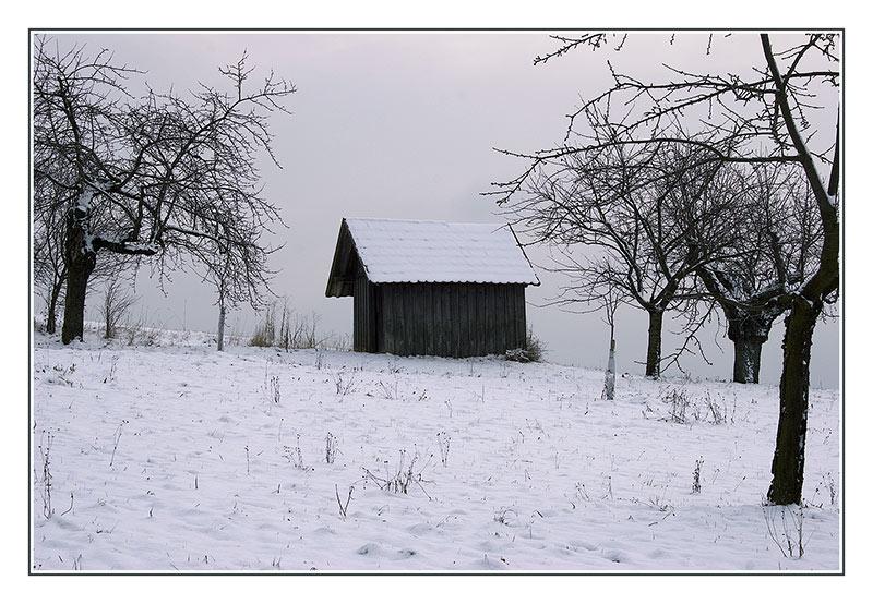 Kirschenhaus im Winter