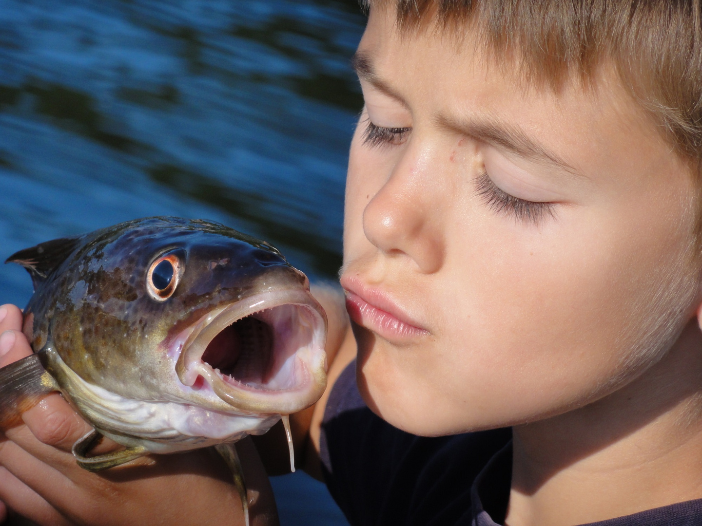 Kiss after Catch