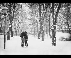 Kiss me under the snow, darling...
