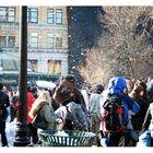 Kissenschlacht am Union Square