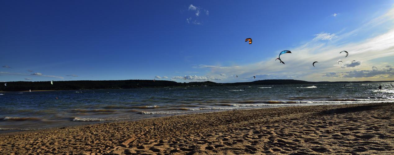 Kite Surfen am Großen Brombachsee