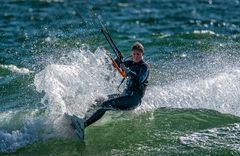 Kite Surfen vor Westerland auf Sylt