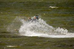 Kite Surfer auf dem Ijsselmmer bei Hindeloopen