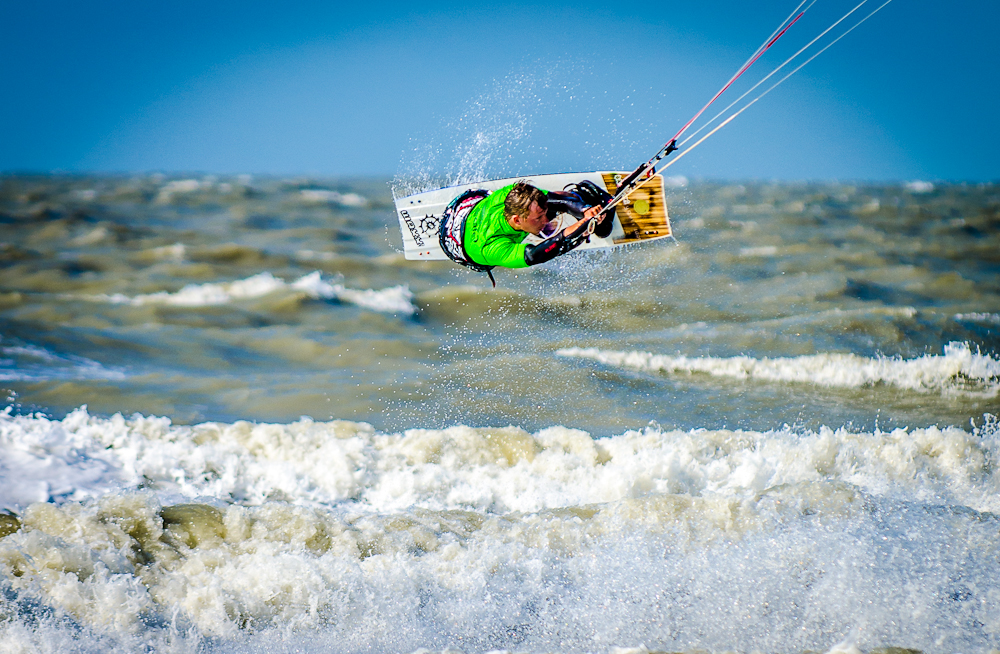 Kite Surfer in de Haan