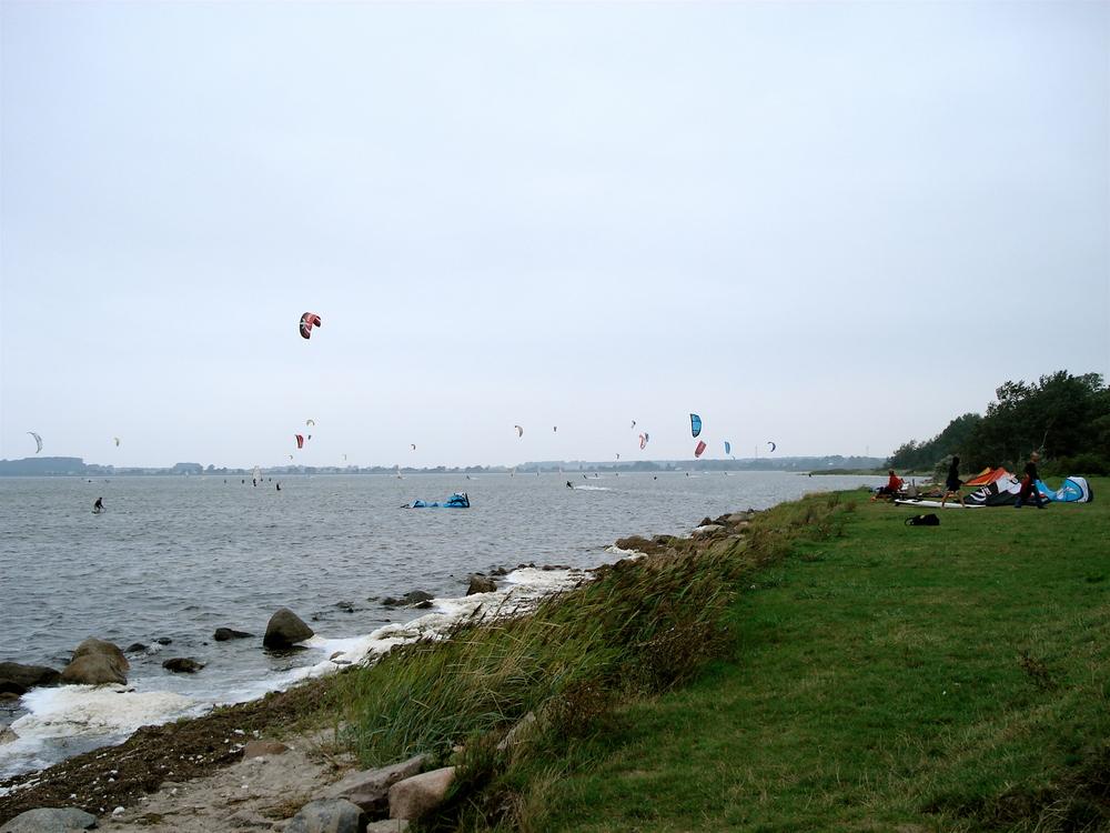Kiter an der Ostsee