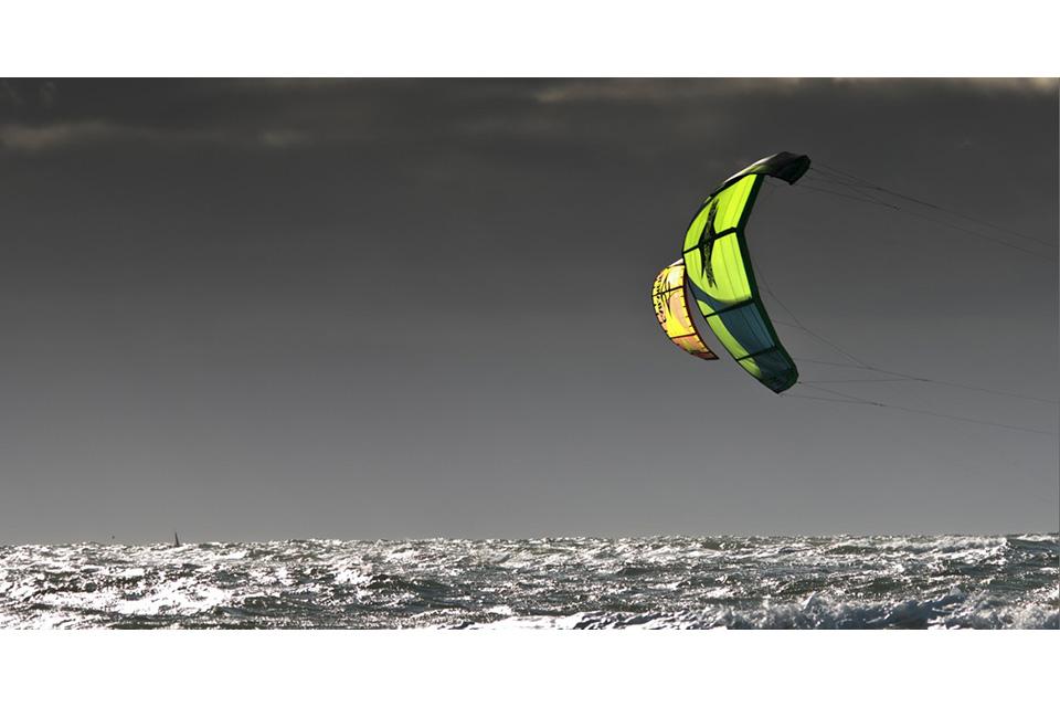 Kitesurfer vor Sylt