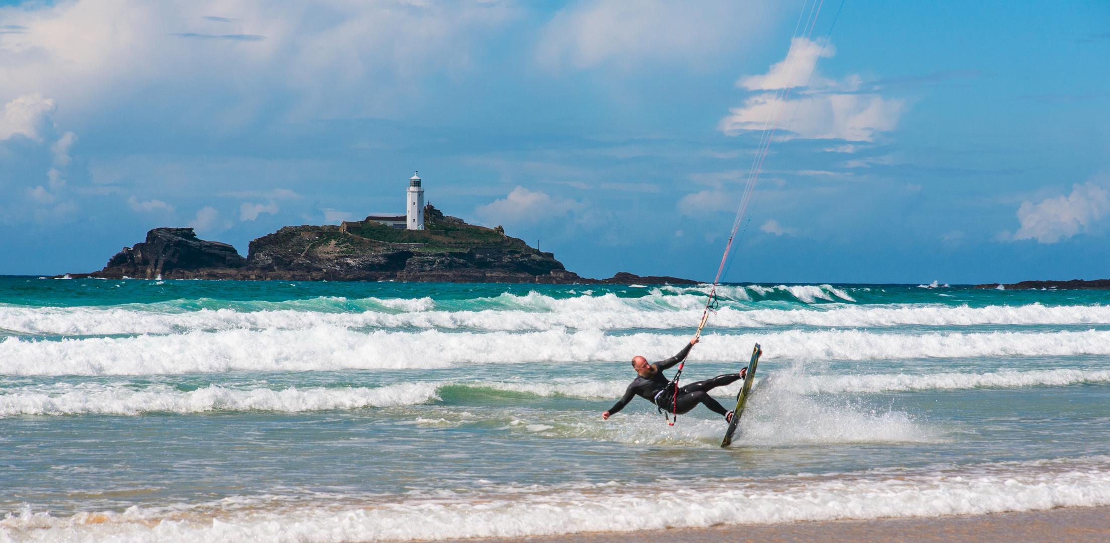[ Kitesurfing@Godrevy Island ]
