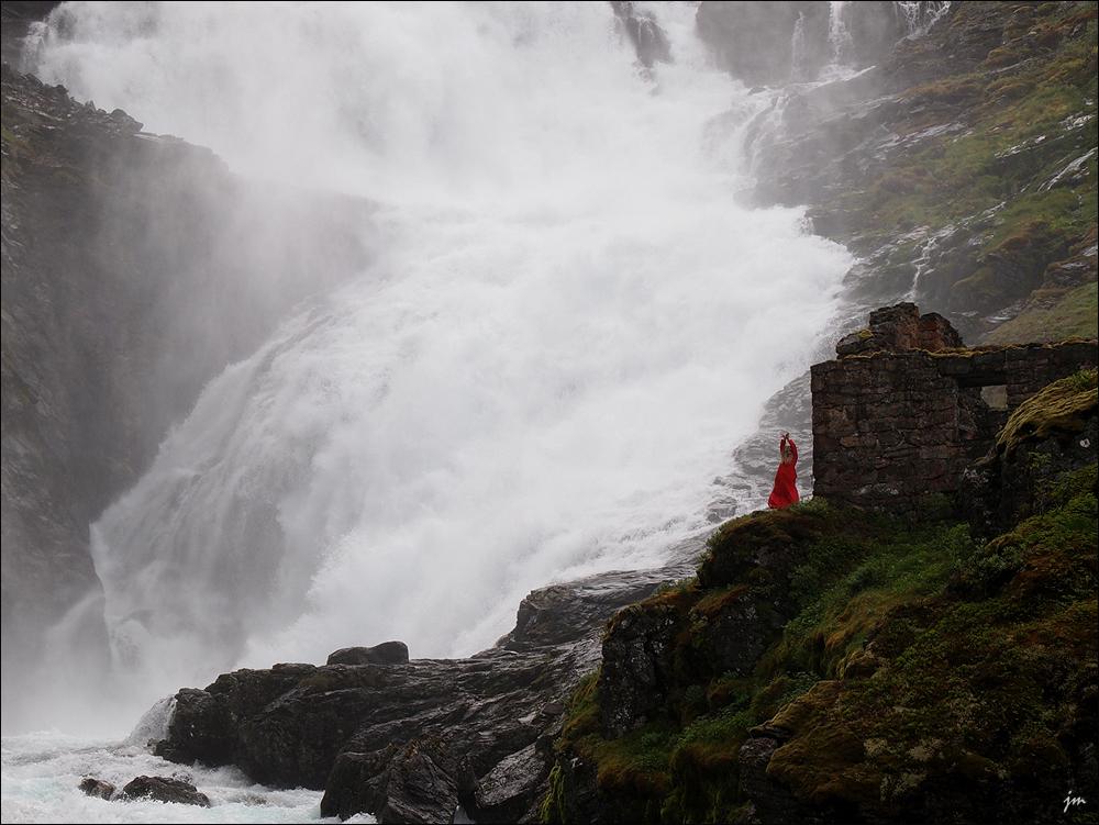 Kjosfossen Waterfall - Norway