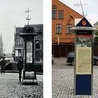 Klaipeda: Informationstafel einst und heute