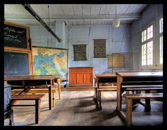 Klassenzimmer in einer alten Landschule