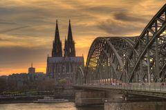 Klassische Sicht auf den Kölner Dom