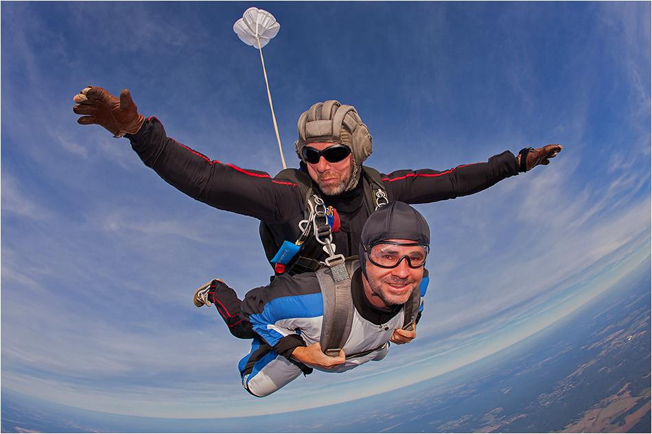 Klaus beim fliegen ..