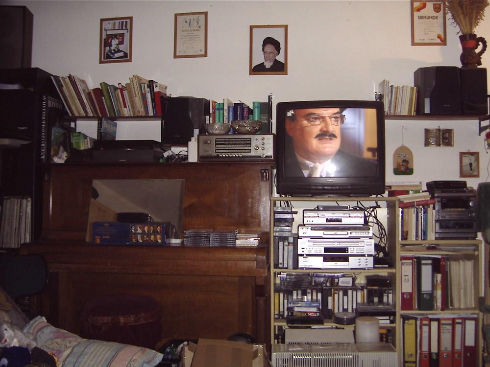 Klavier, Moshammer im TV, Porträt von Stoiber als Mullah