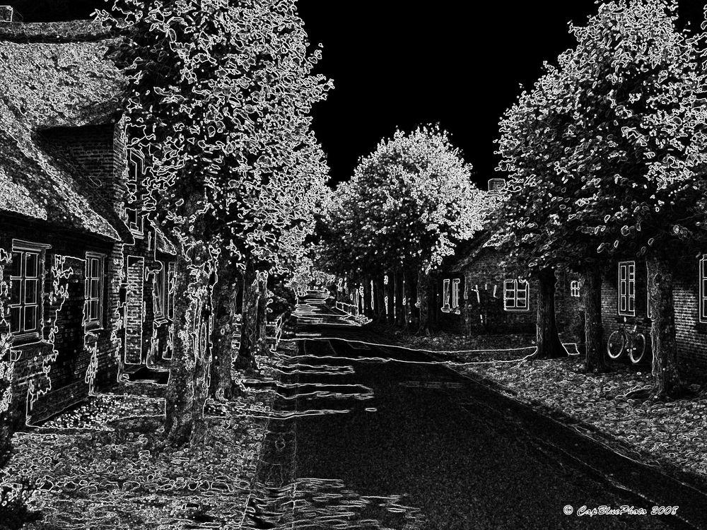 Kleine Dorfstrasse in Föhr