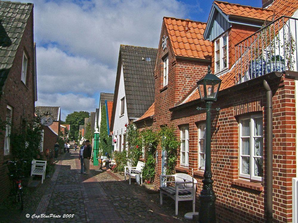 Kleine Gasse in Wyk Insel Föhr