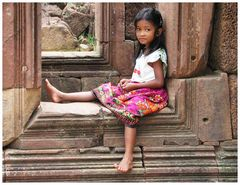Kleine kambodschanische Schönheit